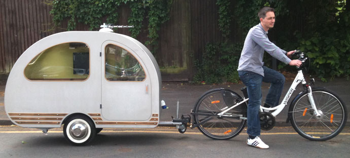 The Caravan Designed To Be Towed Behind A Bicycle Eta