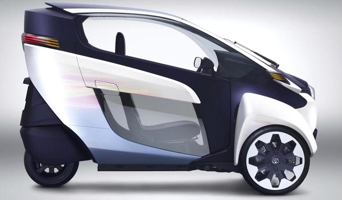 Toyota i-road electric car scooter hybrid