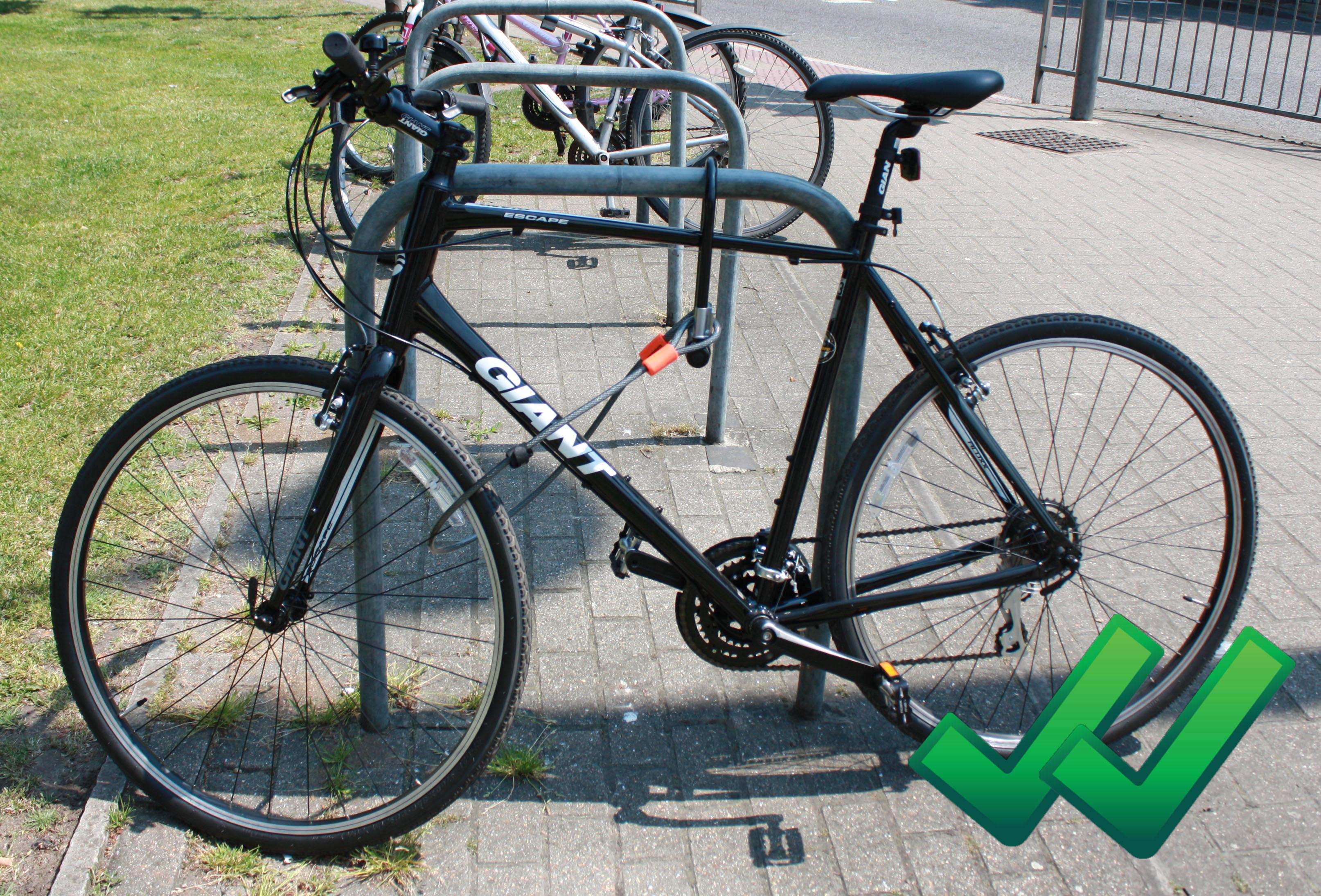 Bike That Locks Itself to Your Primary Bike Lock