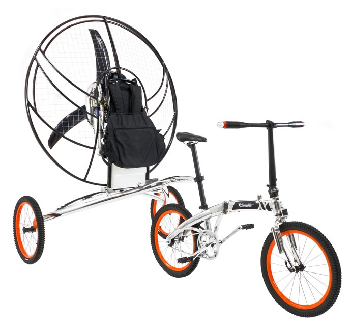 xploreair paravelo flying biccyle
