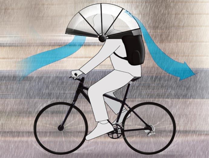 nubrella shoulder-mounted umbrella