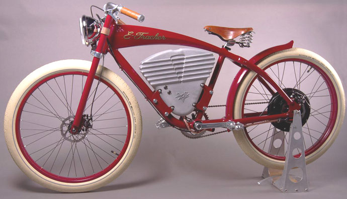 vintage e tracker a very modern retro electric bicycle. Black Bedroom Furniture Sets. Home Design Ideas