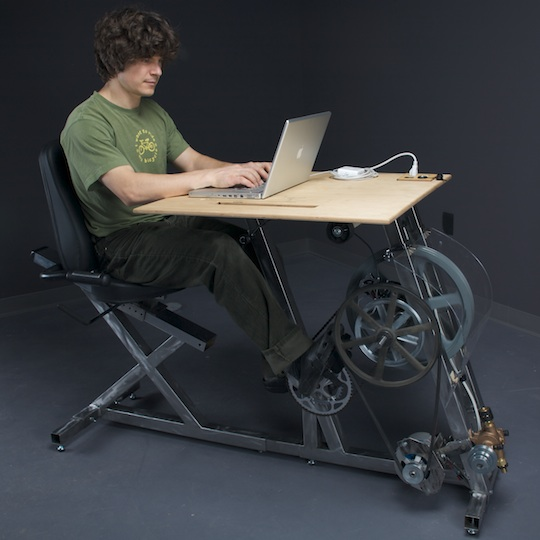 Work Out While You Work The Pedal Powered Desk Eta