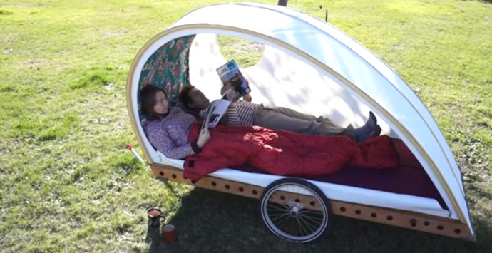 Foldavan bicycle caravan