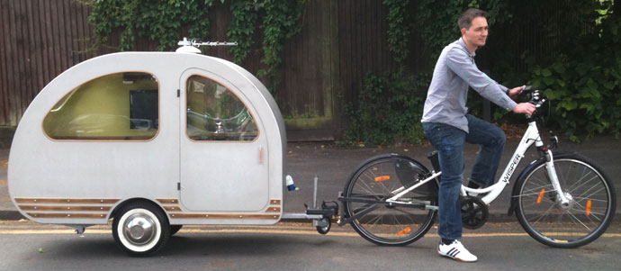 A Tent That Tows Behind A Bicycle Eta