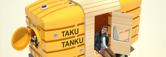 Taku-Tanku bicycle caravan trailer