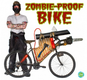 Halloween Zombie bicycle