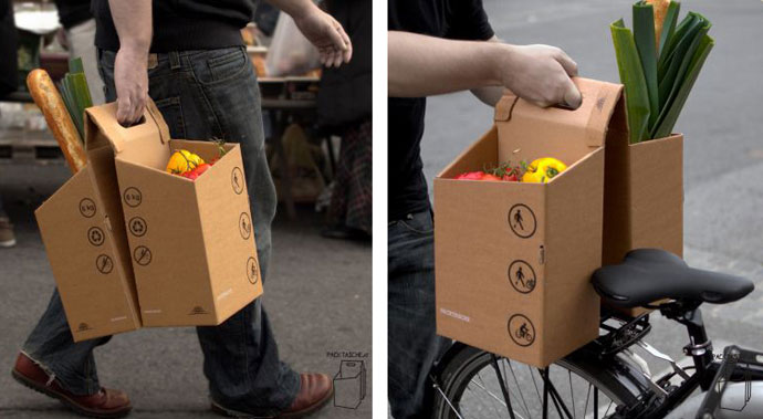 Packtasche cardboard panniers for bicycles