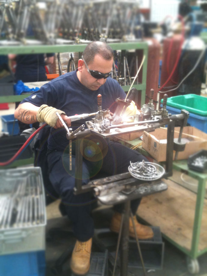 Brazing of brompton bicycle frames