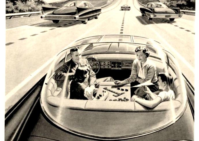 1950s vision of driverless cars