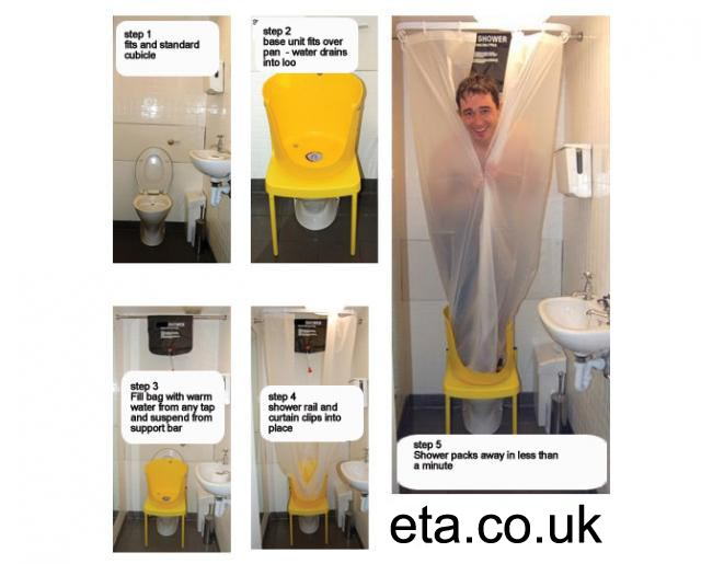 DIY workplace shower hack for cyclists