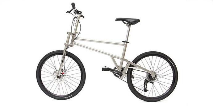 Helix Titanium Folding Bicycle