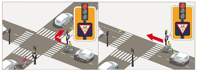 cyclists can run red lights in Paris