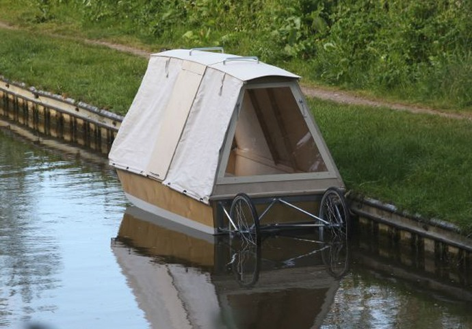 bicycle caravan canal boat