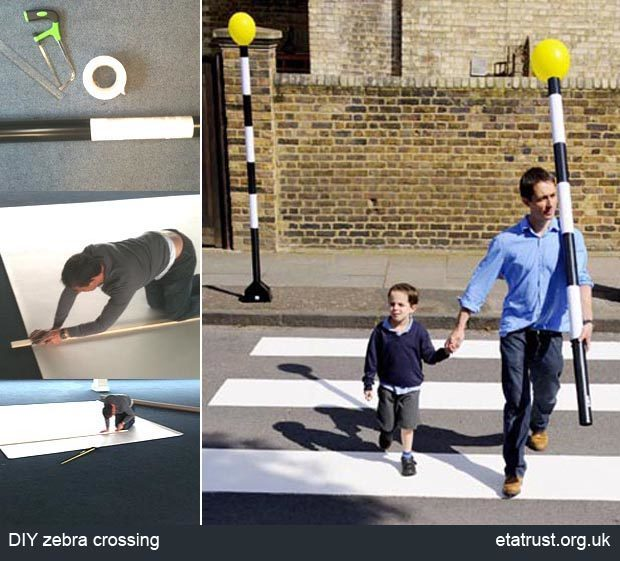 DIY zebra crossing