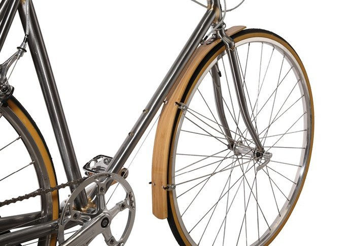 Bamboo bicycle mudguard