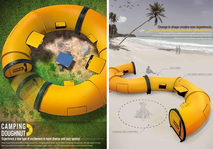 doughnut tent & 10 weird and wonderful tents for summer 2017 | ETA