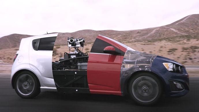 Blackbird chameleon car used in car ads