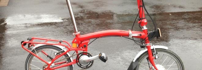 Brompton electric folding bicycle