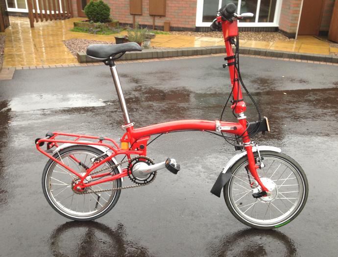 8fcac1f9253 Brompton electric folding bicycle