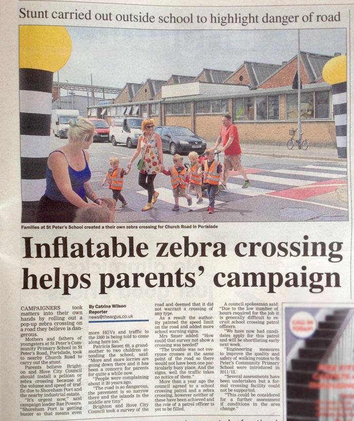 pop-up zebra crossing