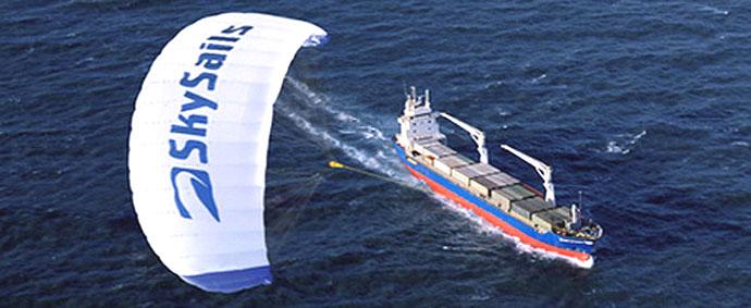 shipping using skysails at sea