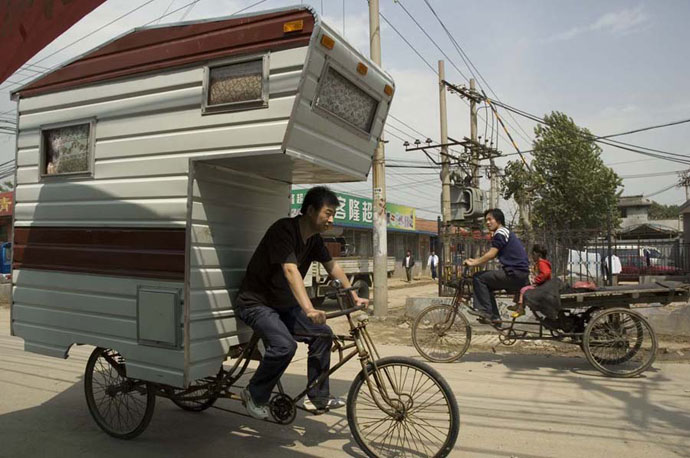 camper bike bicycle caravan
