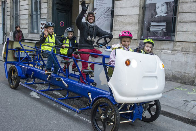 pedal-powered school bus