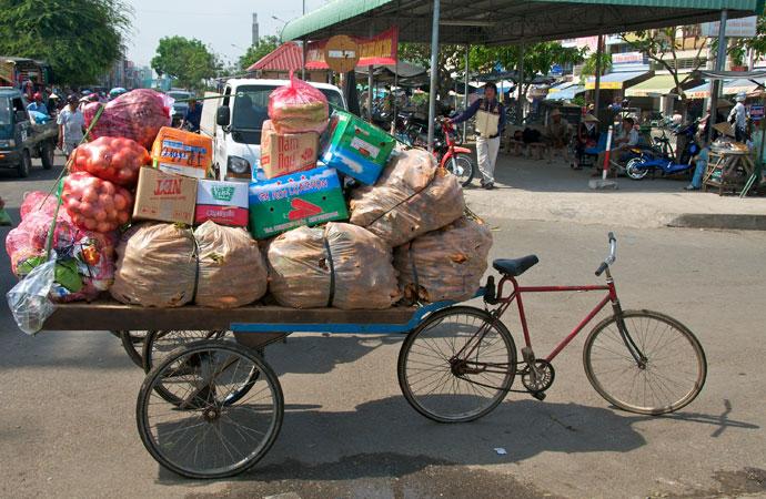 cargo bike trailer, bicycle, utility bike