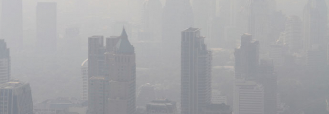 smog caused by air pollution