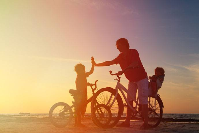 travel by bicycles with kids