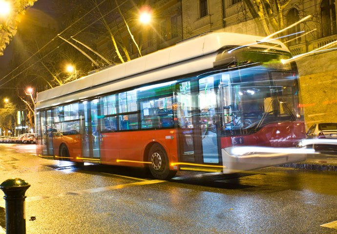 public transport electric trolleybus