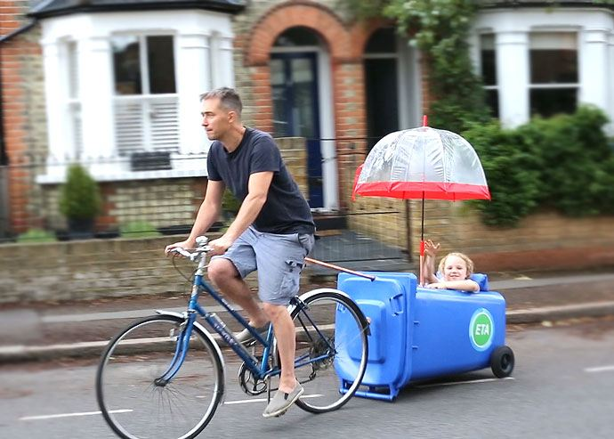 wheelie bin bicycle trailer