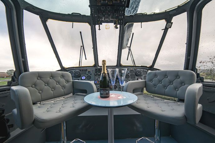Sea King helicopter hotel cockpit
