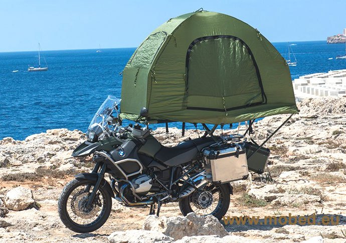 mobed motorcycle tour tent
