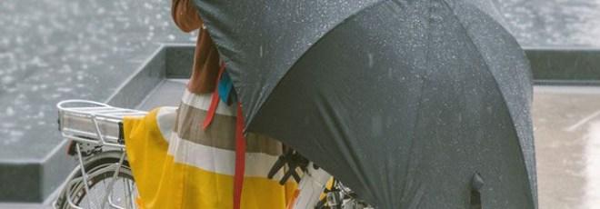 under-cover bicycle umbrella