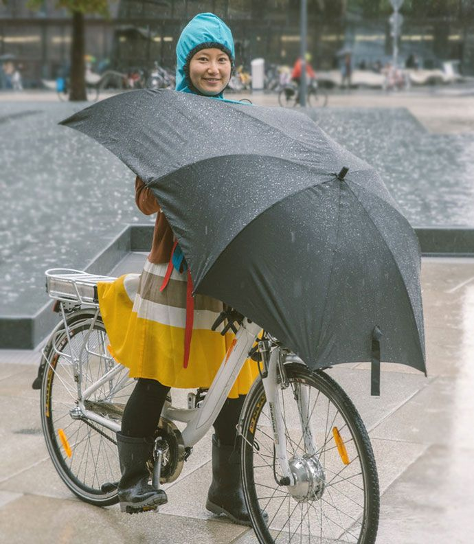 under-cover bicycle umbrella