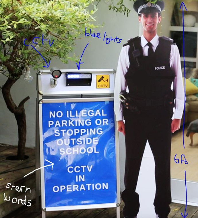 pop-up policeman