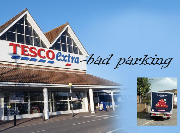 Tesco, your pavement parking delivery drivers are endangering lives