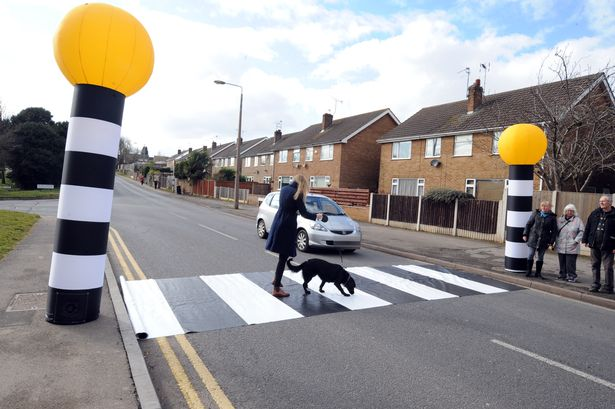 inflatable zebra crossing
