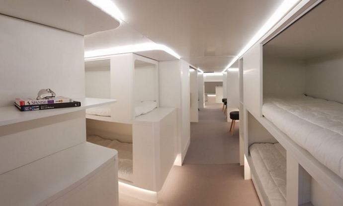 airbus sleeping berths