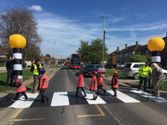 pop up zebra crossing