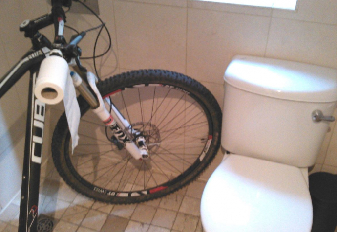 bicycle loo roll holder