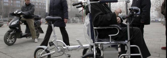 pedal powered wheelchair