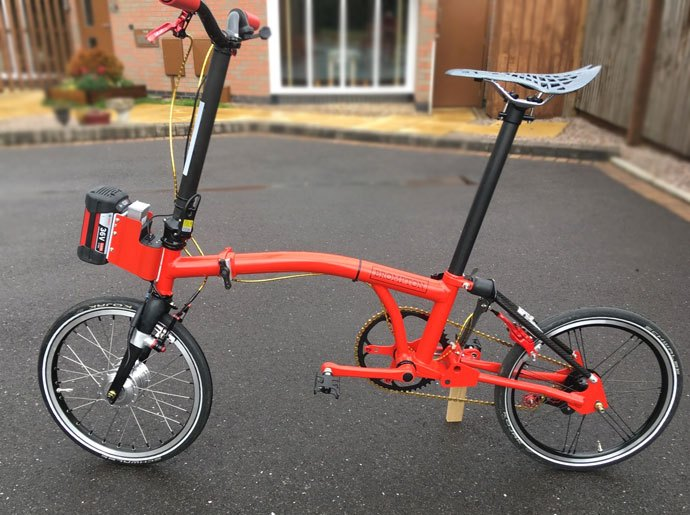 DIY electric brompton