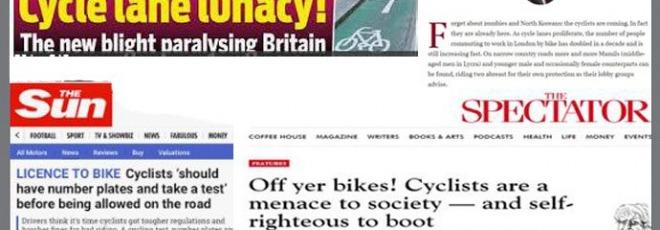 anti cycling headlines
