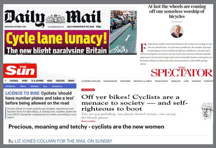 anti cycling headlines