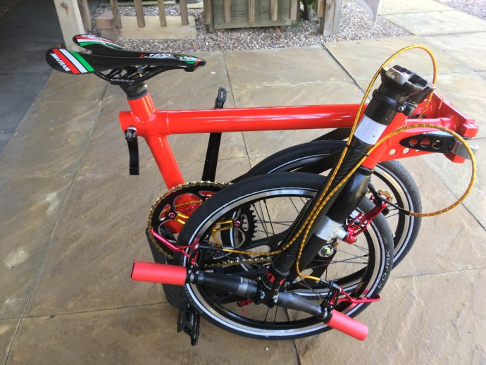 The world's lightest folding bicycle