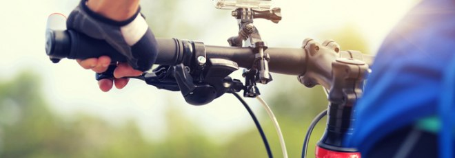 bicycle with action camera