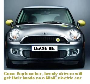 bmw to lease mini e electric car for 11 a day eta. Black Bedroom Furniture Sets. Home Design Ideas